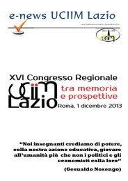 e-news UCIIM Lazio