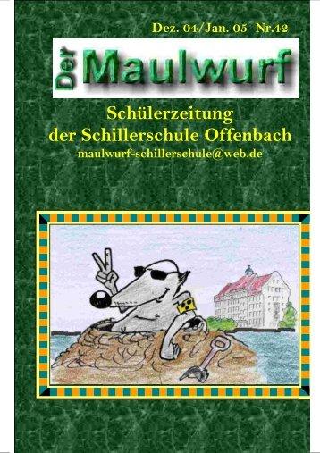 Schülerzeitung der Schillerschule Offenbach