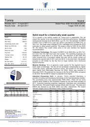 Neutral Solid result for a historically weak quarter - Fondsfinans