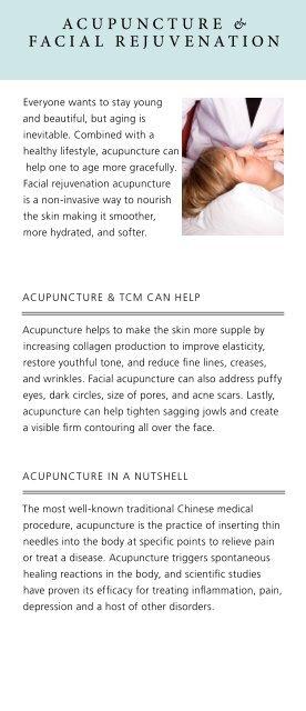 Acupuncture & FAciAl rejuvenAtion
