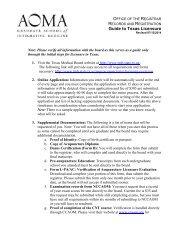 Texas Medical Board Licensing Worksheet - AOMA Graduate ...
