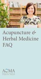 Acupuncture & Herbal Medicine FAQ - AOMA Graduate School of ...