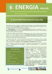 Energia Hírlevél 2012 - enerea
