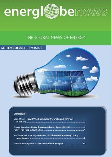 SEPTEMBER 2011 – 3rd ISSUE - enerea