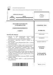 EGZAMIN MATURALNY Z INFORMATYKI POZIOM ROZSZERZONY ...