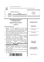 Egzamin Maturalny Z Informatyki Poziom Podstawowy