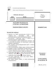 EGZAMIN MATURALNY Z FIZYKI I ASTRONOMII POZIOM ...
