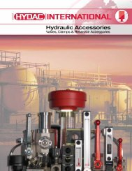 Hydraulic Accessories - HYDAC USA
