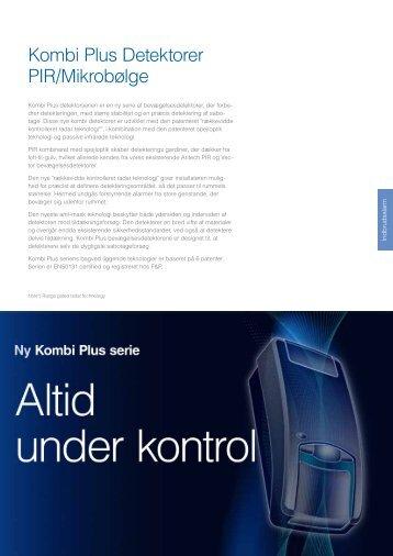 Kombi Plus Detektorer PIR/Mikrobølge - UTC Fire & Security ...