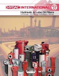 Hydraulic & Lube Oil Filters - HYDAC USA
