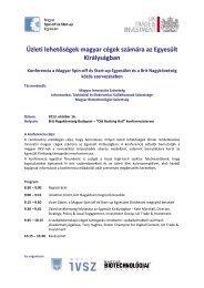Üzleti lehetőségek magyar cégek számára az Egyesült ... - MailChimp