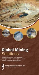 Global Mining Solutions - Ecology & Environment