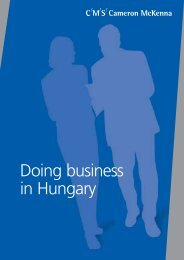 Doing business in Hungary - Bcch.com