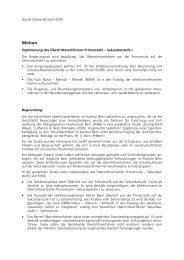 Optimierung des Übertrittsverfahrens Primarstufe – Sekundarstufe I