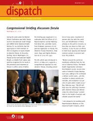 Congressional briefing discusses fistula - Campaign to End Fistula