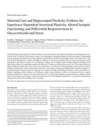 Maternal Care and Hippocampal Plasticity: Evidence for Experience ...