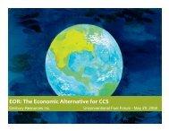EOR: The Economic Alternative for CCS
