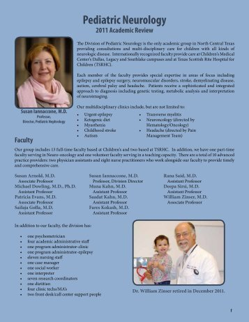Pediatric Neurology - UT Southwestern