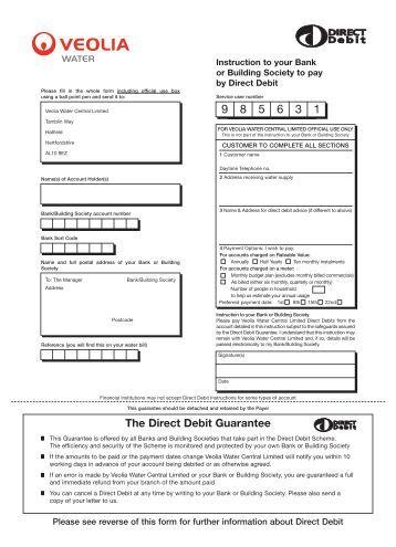 United Utilities - Set up a direct debit