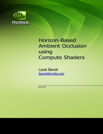 Horizon-Based Ambient Occlusion using Compute Shaders