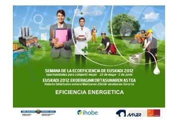 EFICIENCIA ENERGETICA - Ihobe