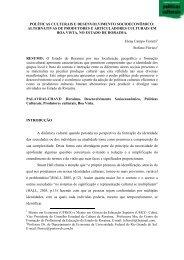políticas culturais e desenvolvimento socioeconômico - Cultura Digital