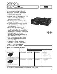 Digital Panel Meter K3TS - Omron