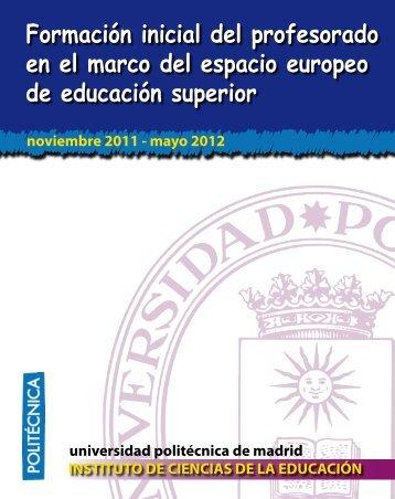 Formación inicial del profesorado en el marco del espacio europeo ...