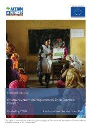 Emergency Nutrition Programme in Sindh Province, Pakistan