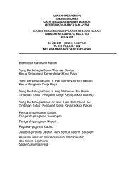 Ucapan Yang Berhormat - Kementerian Kerja Raya Malaysia