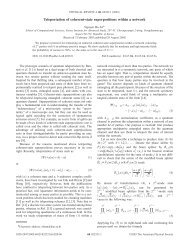 Teleportation of coherent-state superpositions within a network - KIAS