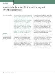 Internistische Patienten: Risikostratifizierung und ... - Vascularcare.de