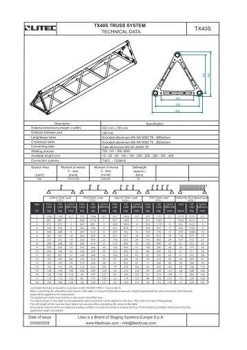 Litec TX40S Specs - EES