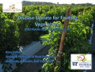 Disease Update for Fruiting Vegetables - Florida Ag Expo