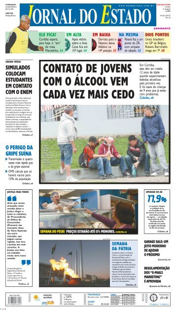 contato de jovens com o álcool vem cada vez mais cedo - Bem Paraná