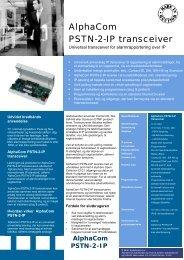 AlphaCom PSTN-2-IP transceiver - Solar Danmark A/S