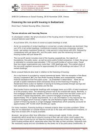 Financing the non-profit housing in Switzerland