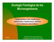 ecologia fisiologica - Departamento de Ciencias Biológicas