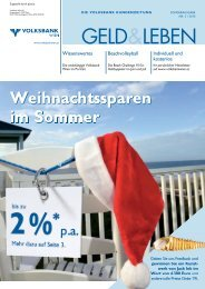 GELD&LEBEN - Volksbank