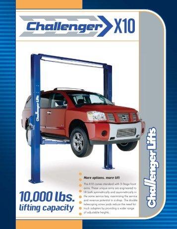 10000 lbs. lifting capacity - aesco