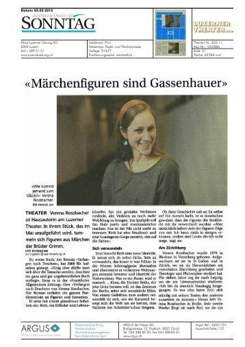 «Märchenfiguren sind Gassenhauer» - Luzerner Theater
