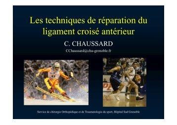 techniques de réparations du LCA C Chaussard - Service de ...
