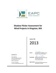 Shadow Flicker Assessment for Wind Projects in ... - Town of Kingston