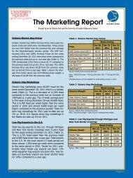 The Marketing Report - Ontario Pork