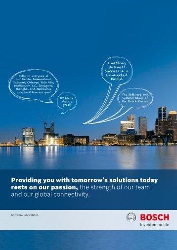 Corporate Brochure - Bosch Software Innovations