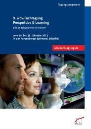 9. wbv-Fachtagung Perspektive E-Learning - W. Bertelsmann Verlag