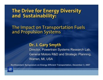 The Drive for Energy Diversity and Sustainability - Center for Energy ...