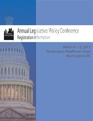Annual Legislative/ Policy Conference - Council of the Great City ...