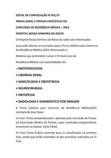 Hospital Nossa Senhora do Rocio - Associação Médica do Paraná