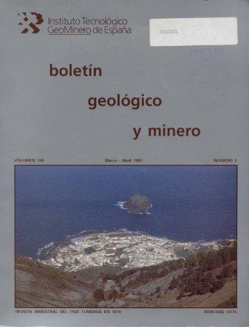 ogico y minero - Instituto Geológico y Minero de España